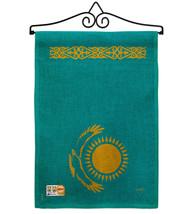 Kazakhstan Burlap - Impressions Decorative Metal Wall Hanger Garden Flag... - $33.97