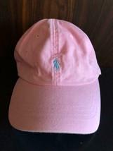 Polo Ralph Lauren Cap Hat Pink Logo Light Blue 100% Cotton Men One Size ... - $131.00