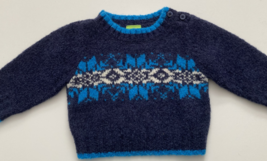 Old Navy, Baby Boy Clothes, SZ 0-3 MO, Navy Blue Wool Blend Sweater - $12.00