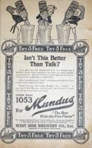 Mundus Beer West Side Brewery - 1914 Detroit Newspaper Ad - $9.99