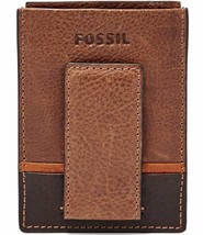 Fossil Ian Leather Magnetic Card Case, ML3806200 Brown - ₹2,574.38 INR