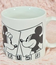 Mickey Mouse Coffee Mug Black and White - Ceramic - Applause - $28.71
