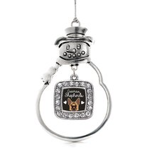 Inspired Silver German Shepherd Lover Classic Snowman Holiday Christmas Tree Orn - $14.69