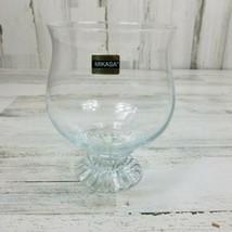 Vintage Mikasa The Ritz  Germany Clear Crystal Open Hurricane Vase Disco... - $14.54