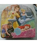 Disney Princess On Go Sidewalk Chalk Board Tin Set 1 Stencil 10 Chalks n... - $11.39