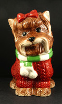 YUYU YORKIE DOG COOKIE TREAT JAR NEIMAN MARCUS Exclusive Yorkshire Terrier - $139.99