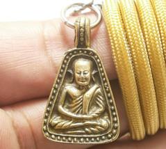 LP NGERN THAI POWERFUL BUDDHA AMULET PENDANT NECKLACE MONEY LUCKY RICH S... - $27.99