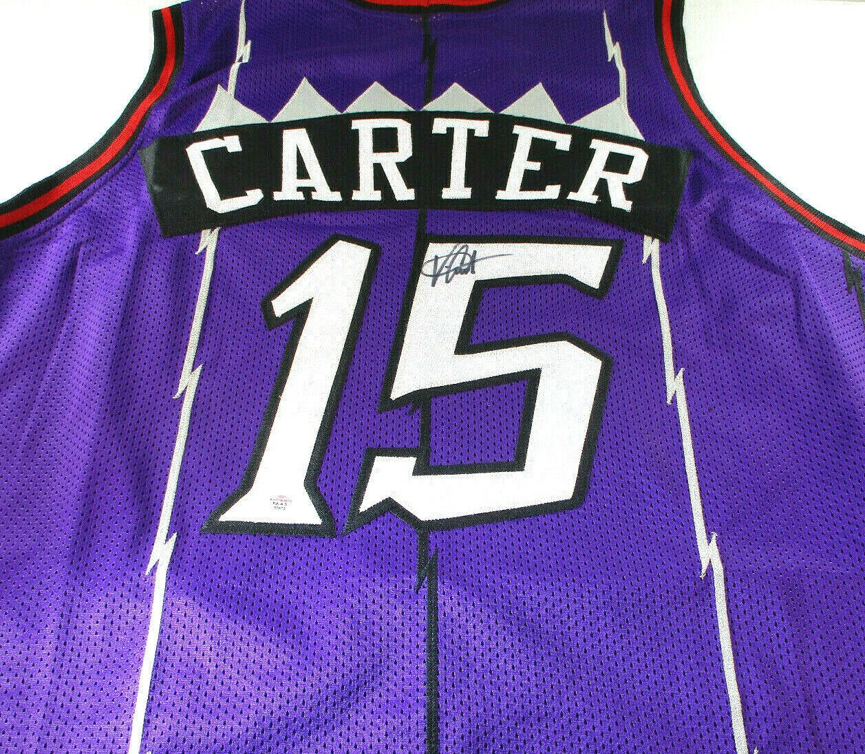 VINCE CARTER / 8 X NBA ALL-STAR / AUTOGRAPHED TORONTO RAPTORS CUSTOM JERSEY COA