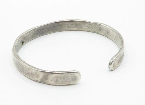 925 Sterling Silver - Vintage .10 Carat Genuine Diamond Cuff Bracelet - B6175 image 3