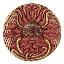 Belenos Sun God Round Wall Plaque Designed by Oberon Zell 5.75 Inches Di... - $23.75