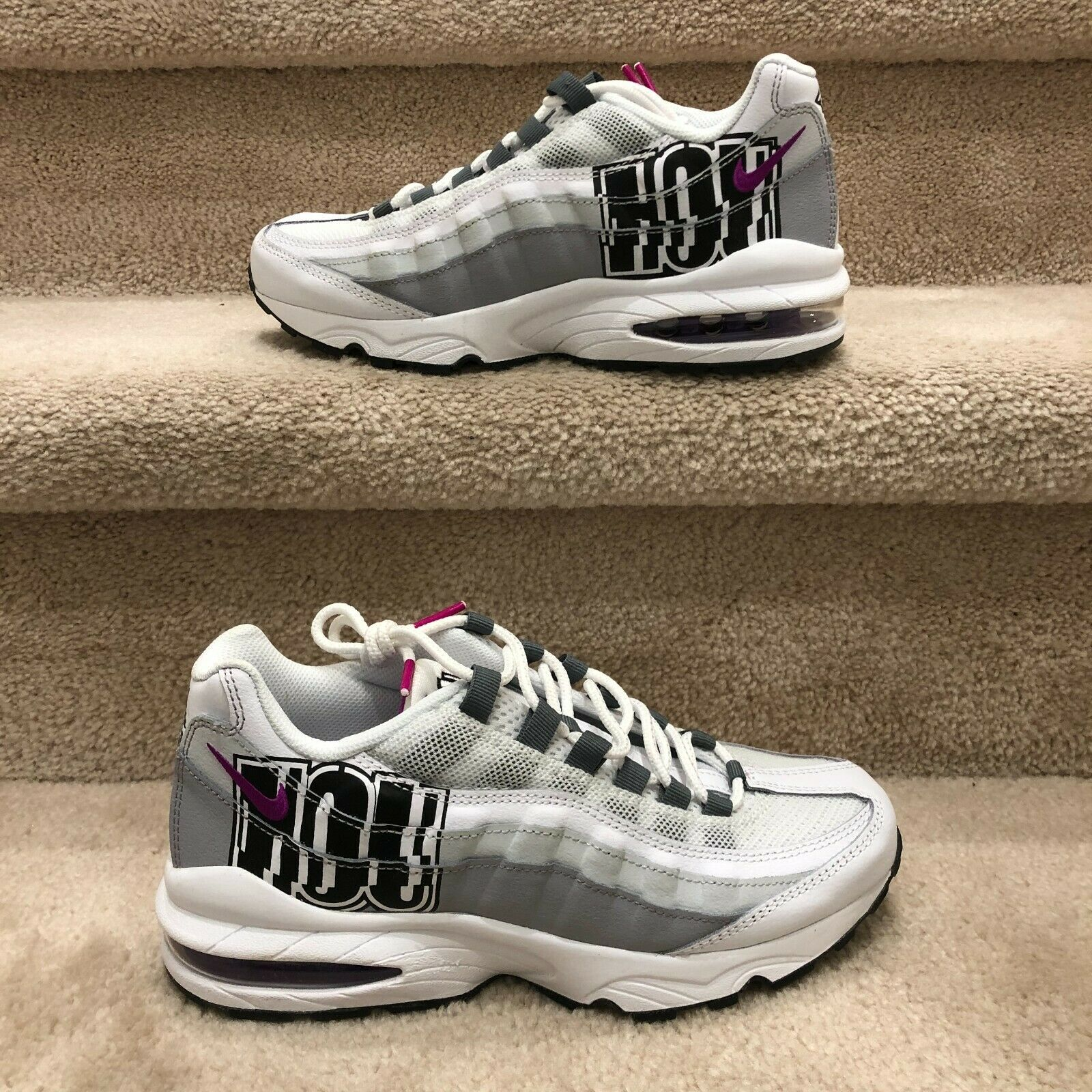 Primary image for NIKE AIR MAX 95 GS 'City Of Houston'  KIDS' WHITE SNEAKER BV4368-100