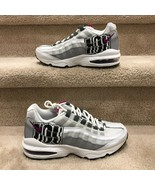 NIKE AIR MAX 95 GS 'City Of Houston'  KIDS' WHITE SNEAKER BV4368-100 - $79.99