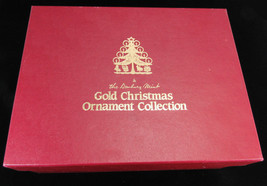 1985 Danbury Mint Set Of 12 Gold Christmas Ornaments Collection In Box -A4 - $54.95