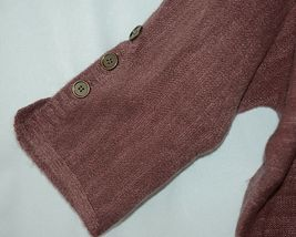 Simply Noelle Brand JCKT222Z Womens Mauve Zippered Sweater Jacket Size XXL image 4