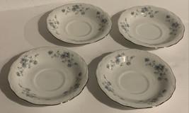 Lot Of 4 Johann Haviland Bavaria Germany Blue Garland Tea Cup Saucers Vi... - $29.99