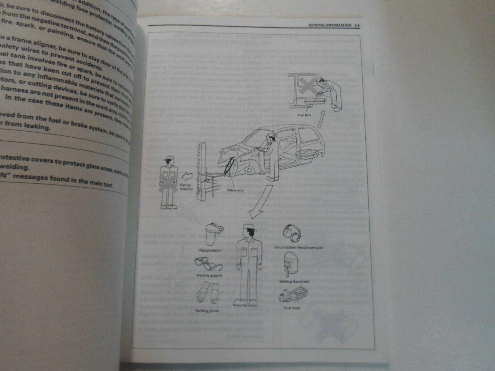 1997 Suzuki SY413 SV416 SV418 Körper Reparatur Manual Hatchback Sedan Fabrik OEM