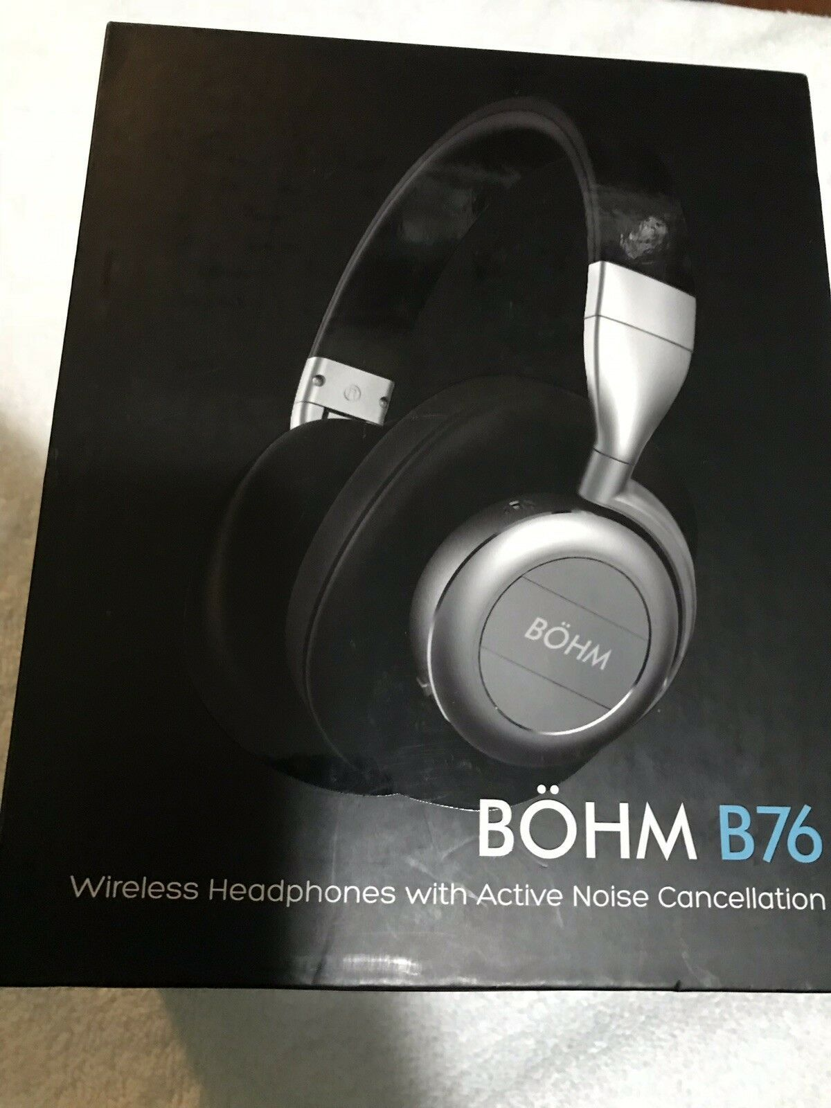 BÖHM Wireless Bluetooth Headphones with Active Noise Cancelling - B76 (TAN)  New