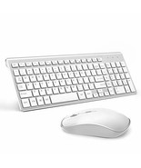 Wireless Keyboard and Mouse, USB Slim Wireless Keyboard Mouse[Silver+white] - $98.99