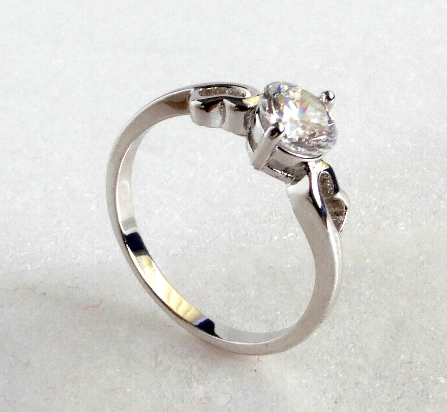 Women New Clear CZ Cubic Zirconia White Gold Plated Engagement Love Ring N P Q R
