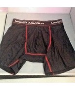 Under Armour Men's Mid Thigh Underwear Black Red Stitching Sz Small New - $11.99