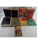 Lot of 9 Vintage Jewish Hebrew Related Books - $66.07