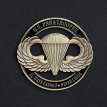 Airborn Paratroopers Bronze Hollow Out Commemorative Coin Collection  So... - $11.99