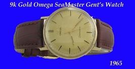 Mint 9k Gold Omega SeaMaster Retro Gents Wrist Watch 1970 - $1,052.60