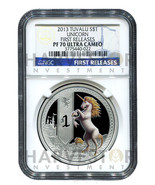 2013 MYTHICAL CREATURE SERIES - UNICORN - NGC PF70 FIRST RELEASES W/OGP ... - £240.56 GBP
