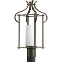 Antique Bronze Post Lantern Metal Frame Etched Glass Progress Lighting P... - $85.94