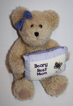 """Boyds Bear Susie B Bearlove Beary Best Mom Pillow 8"""" Soft Toy Jointed Teddy Love - $19.30"""
