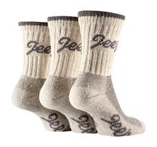 3 Paar Damen Jeep Terrain Gepolsterte Sohle Baumwolle Wandern Socken 4-7 UK - $16.32