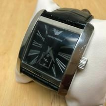 Emporio Armani AR-0180 Men 50m Steel Square Analog Quartz Watch Hour~New... - $52.24