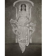 YOUNG WOMAN Symbol of Civilization Congress Library - 1888 Photogravure ... - $25.20