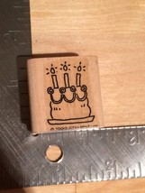 Birthday Cake Birthday Party Woodblock Rubber Stamp - Crafting Crafts - $5.00