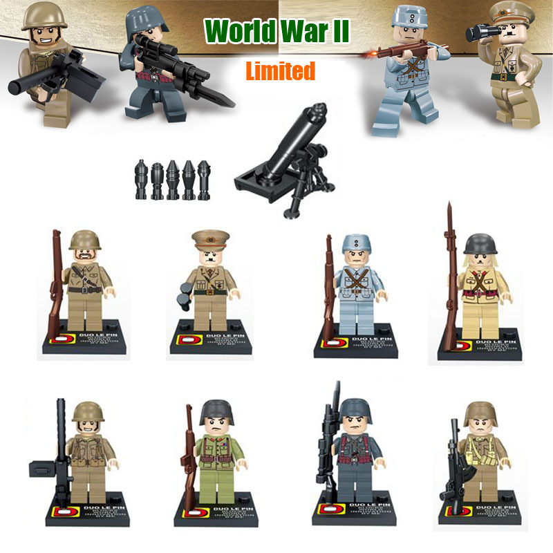 HL World War 2 Vietnam War VS USA Army minifigure blocks lego Toys Gift for Kids