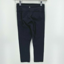 Lululemon绑腿女' s Size 2 Black 3/4 Length Crops Tight Fit-$ 23.44