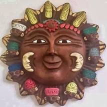 Celestial Inah Mexico Reproduction Sun Face Tribal Mayan Cultural Wall H... - $49.49
