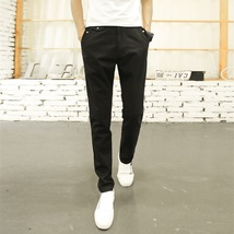 Men Casual Loose Straight Pants Solid Color Trousers for Men image 4