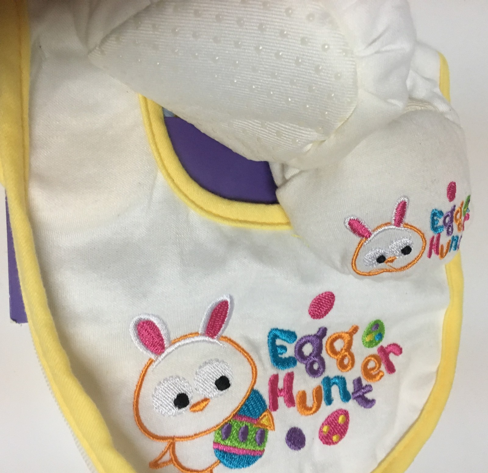 Easter Baby Bib & Rattle Bootie Set NWT One Size