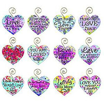 TBD OWI Valentines Decor - Love Saying Heart Ornaments 12pc. - $24.95