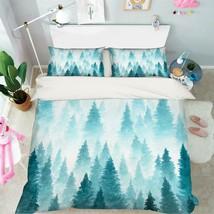 3D Blue Paint Forest 106 Bed Pillowcases Quilt Duvet Single Queen King U... - $102.84+