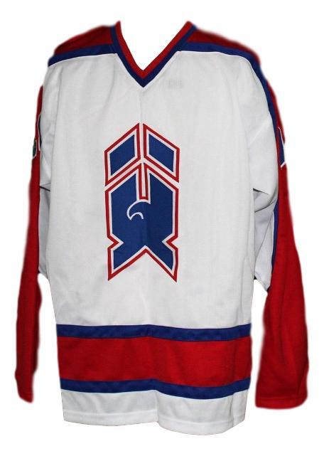 New haven nighthawks retro hockey jersey dave gagner white   1