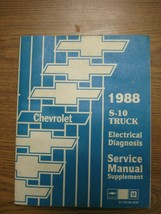 GM 1988 Chevrolet S-10 S10 Truck Electrical Diagnosis Service Manual Supplement - $26.33