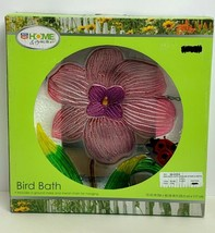 RiteAid Home&Garden Flower W/LadyBug Themed Bird Bath W/Ground Stake&Met... - $29.59