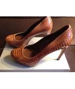 Alexander McQueen Brown Python Snake Skin Platform Pumps Shoes - EUR 37 - $395.00