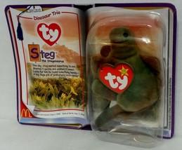 """McDonald's Introduced 6/3/95 TY Beanie Baby """"Steg"""" The Stegosaurus {3203} - $7.72"""