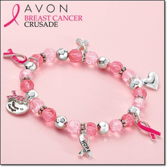 Avon Breast Cancer stretch bracelet