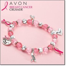 Avon Breast Cancer stretch bracelet - $11.99