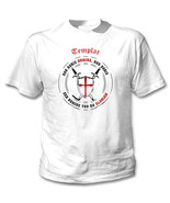 TEMPLAR-NON NOBIS DOMINE .. 012 - NEW COTTON WHITE TSHIRT - $24.06