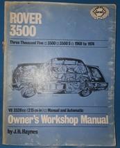 Hayne's Rover 3500 Owner's Workshop Manual - $14.85